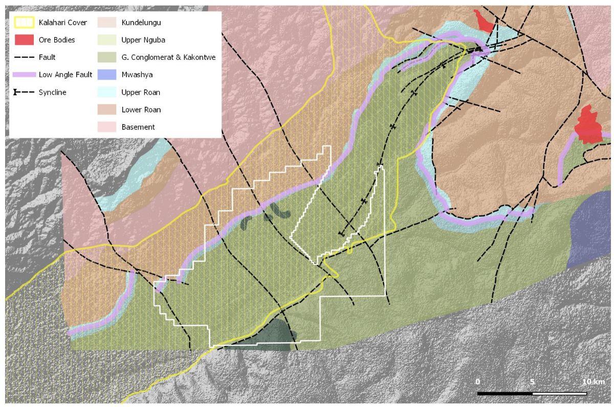 Geology of the Ntambu licence