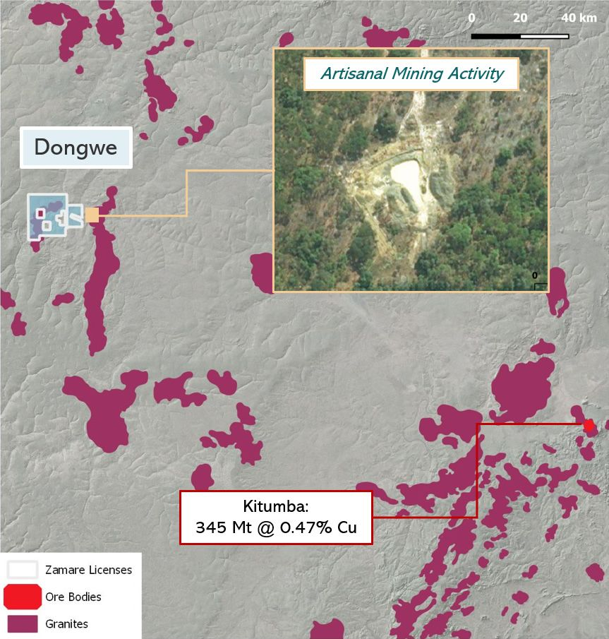 Zamare Minerals's Dongwe licence